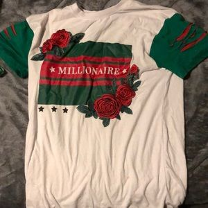 Other - White,green,red graphic Millionaire Short sleeve